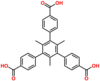 [1,1':3',1''-Terphenyl]-4,4''-dicarboxylic acid, 5'-(4-carboxyphenyl)-2',4',6'-trimethyl-